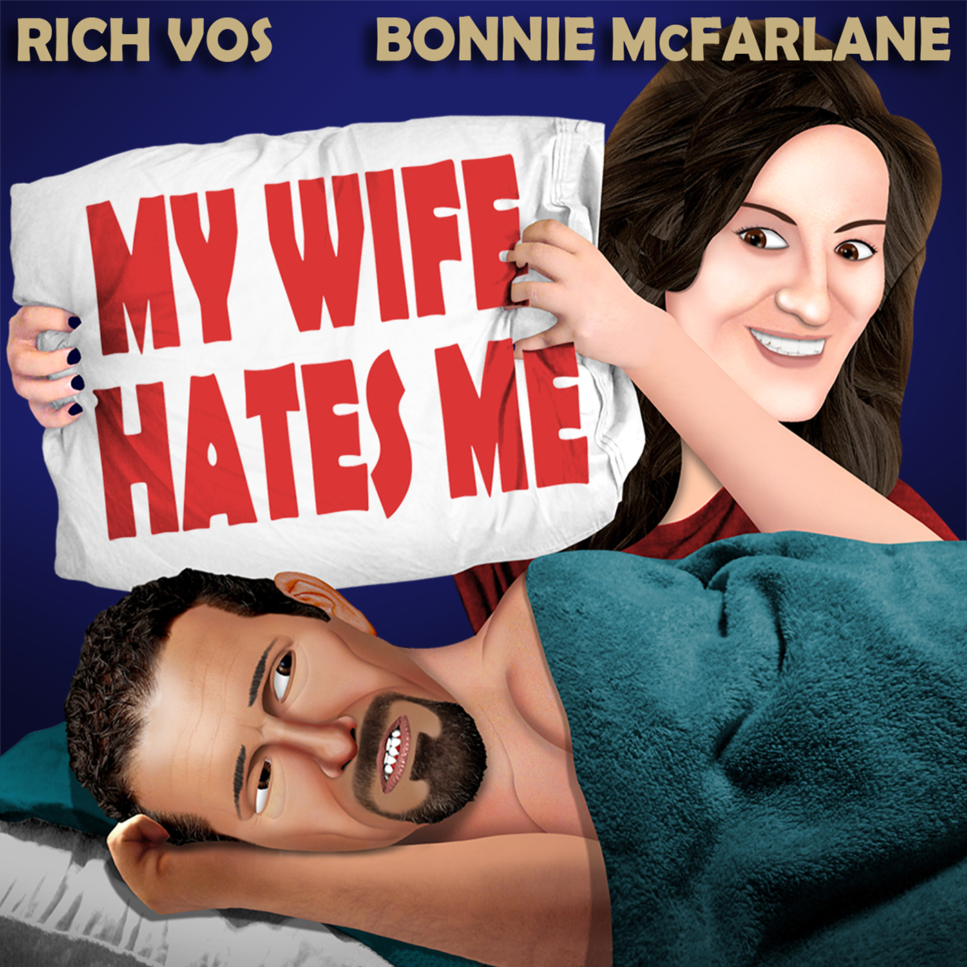 Vos and Bonnie's 'My Wife Hates Me' show art