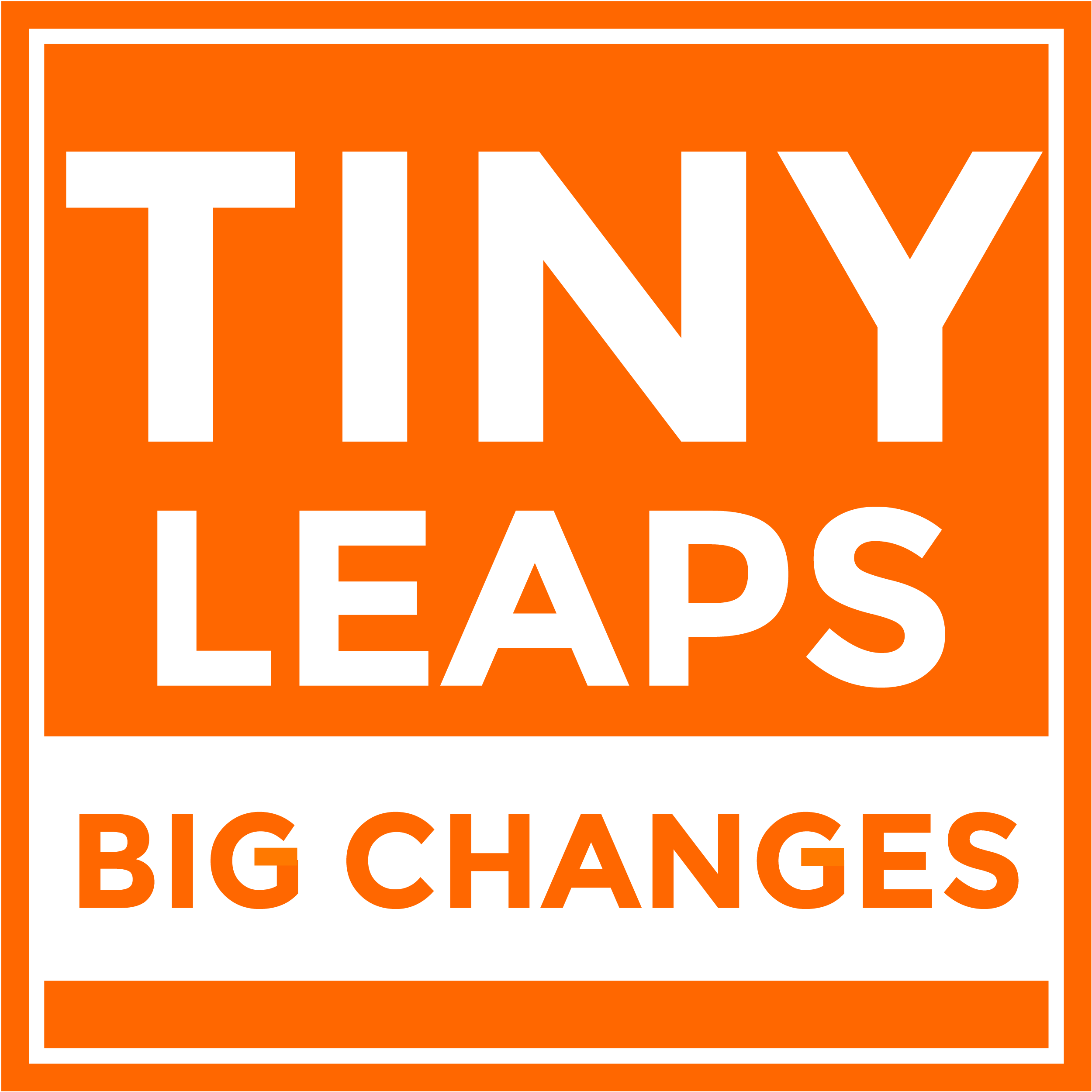Tiny Leaps, Big Changes show art