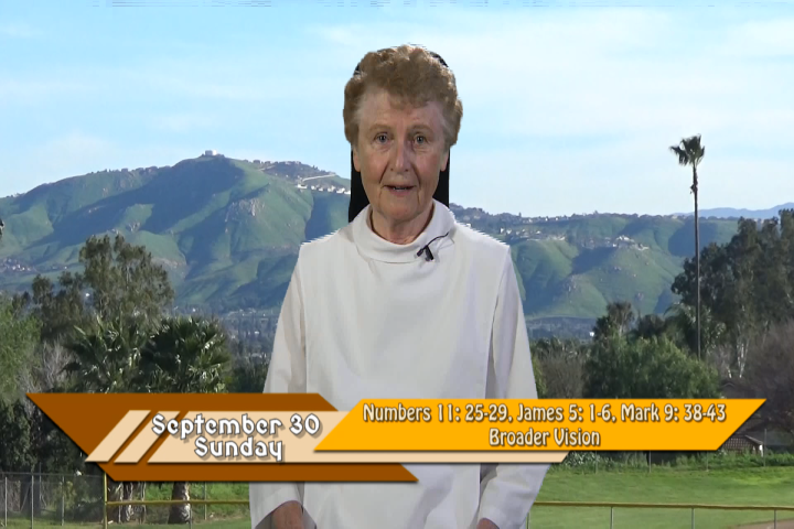 Artwork for iGod Today with Sr. Jeanne Harris, OP;  Today's topic:  Broader vision