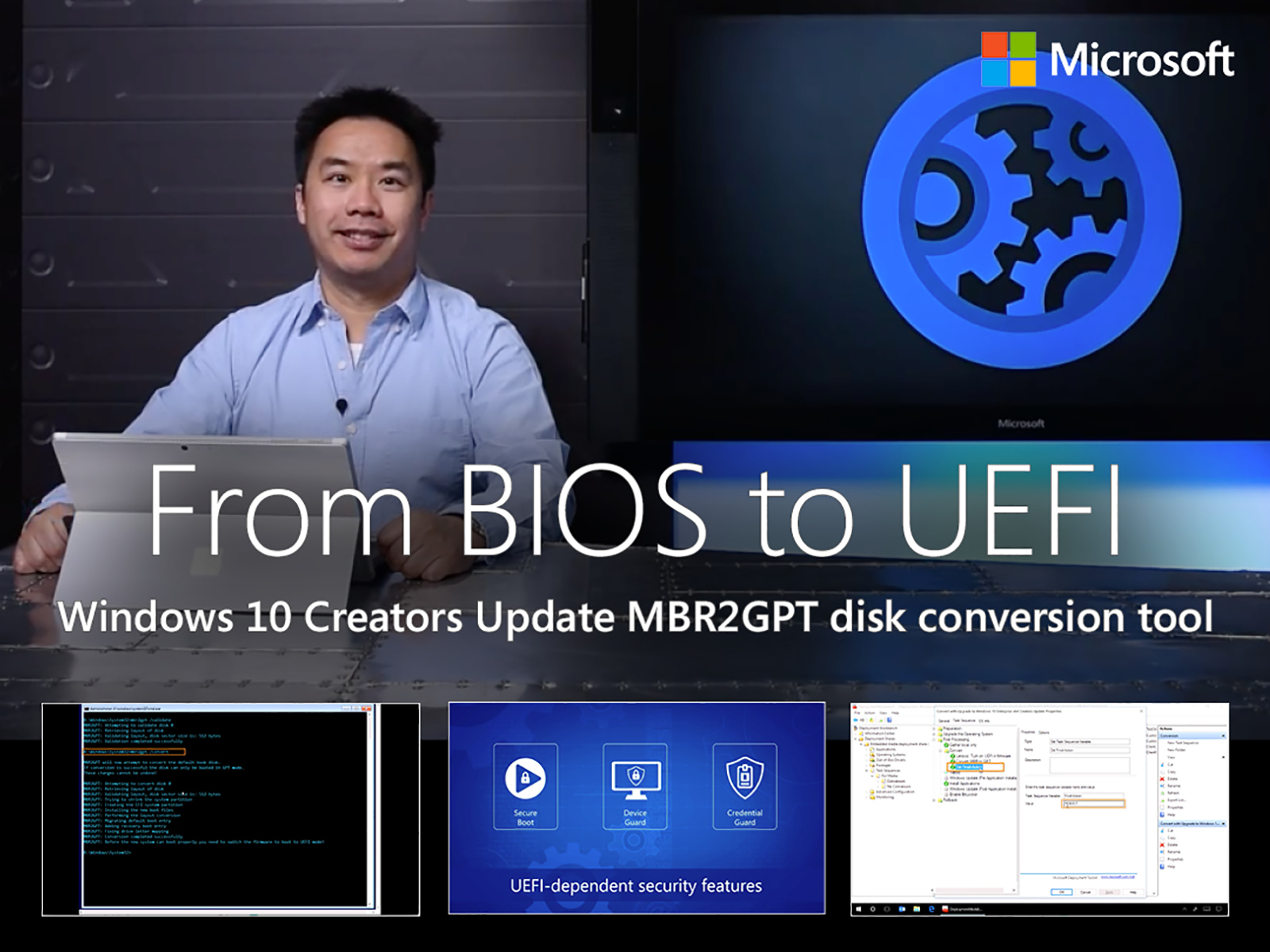 Artwork for Shifting from BIOS to UEFI with the Windows 10 Creators Update MBR2GPT disk conversion tool