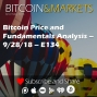 Artwork for Bitcoin Price and Fundamentals Analysis - 9/28/18 - E134