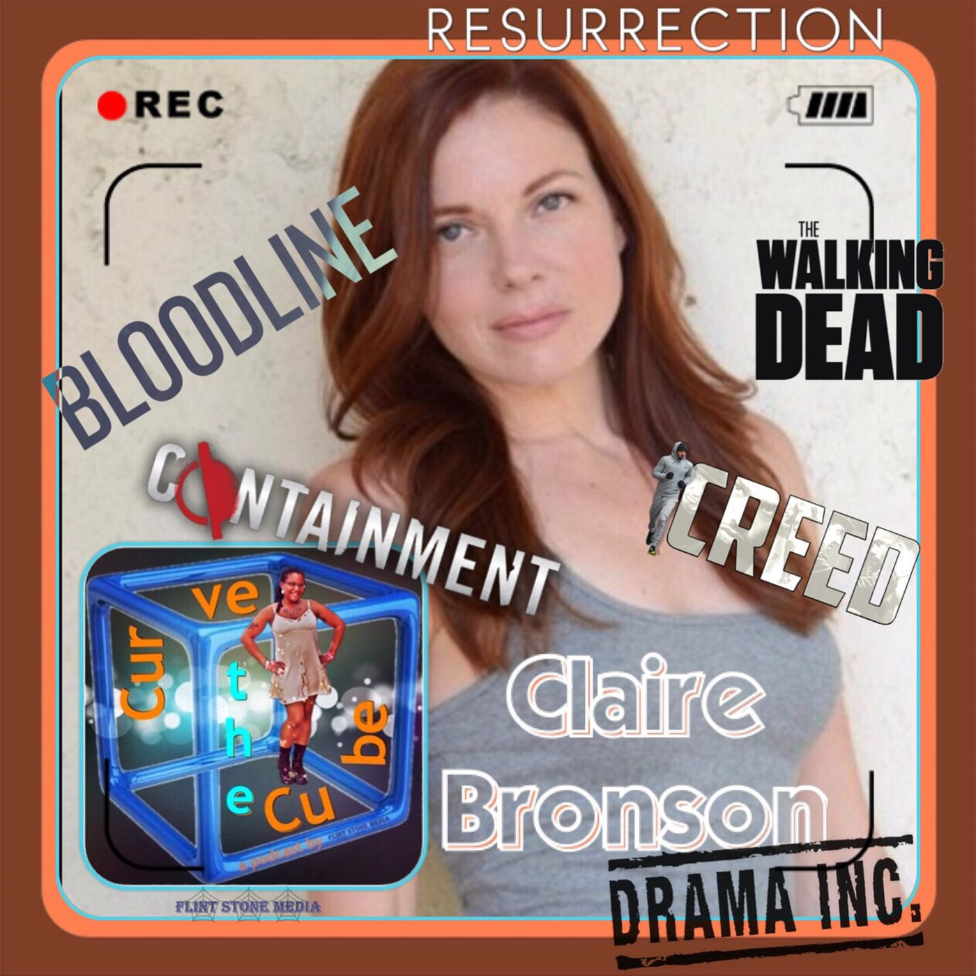 Actor Claire Bronson of Bloodline, The Walking Dead, Resurrection, and Containment on the Curve the Cube Podcast