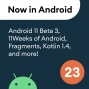 Artwork for 23 - Android 11 Beta 3, 11Weeks of Android, Fragments, Kotlin 1.4, and more!