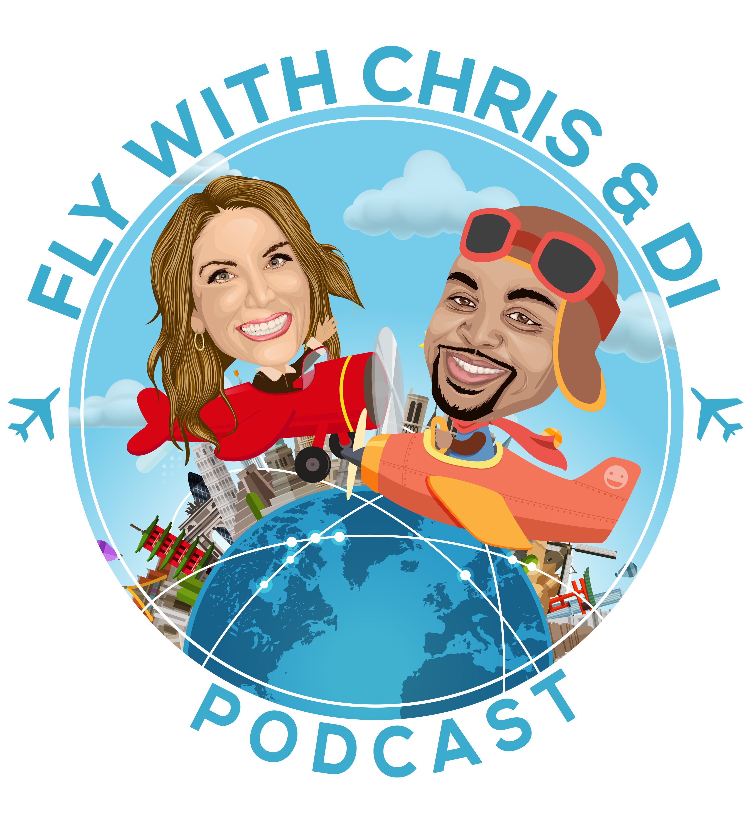 Fly with Chris and Di show art