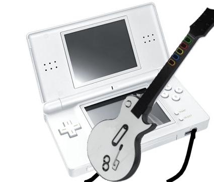 ¿Una guitarra para la versión NDS de Guitar Hero III?