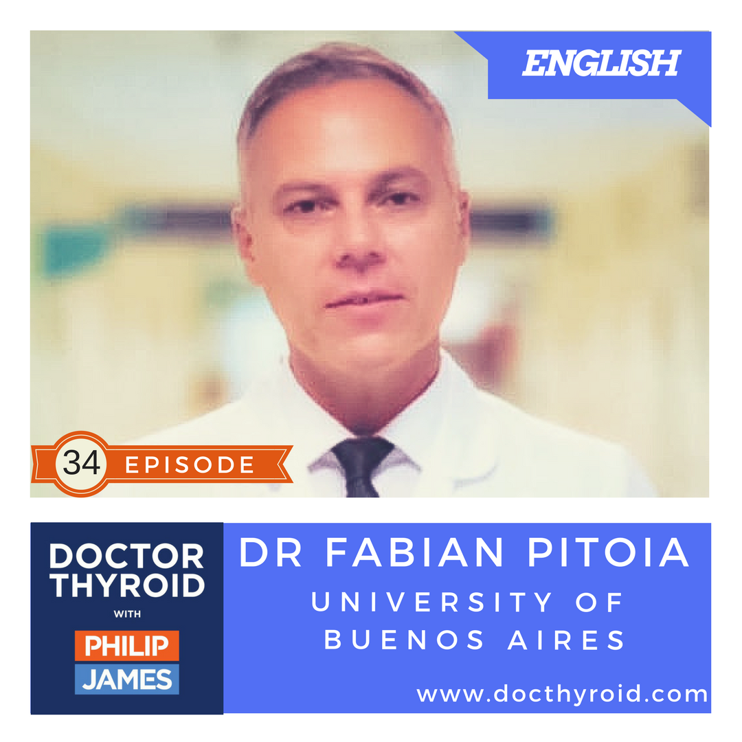 Artwork for 34: What Happens When Thyroid Cancer Travels to the Lungs?  with Dr. Fabian Pitoia from the Hospital of University of Buenos Aires