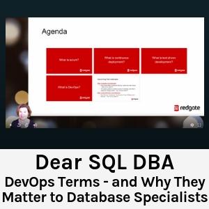 Dear SQL DBA
