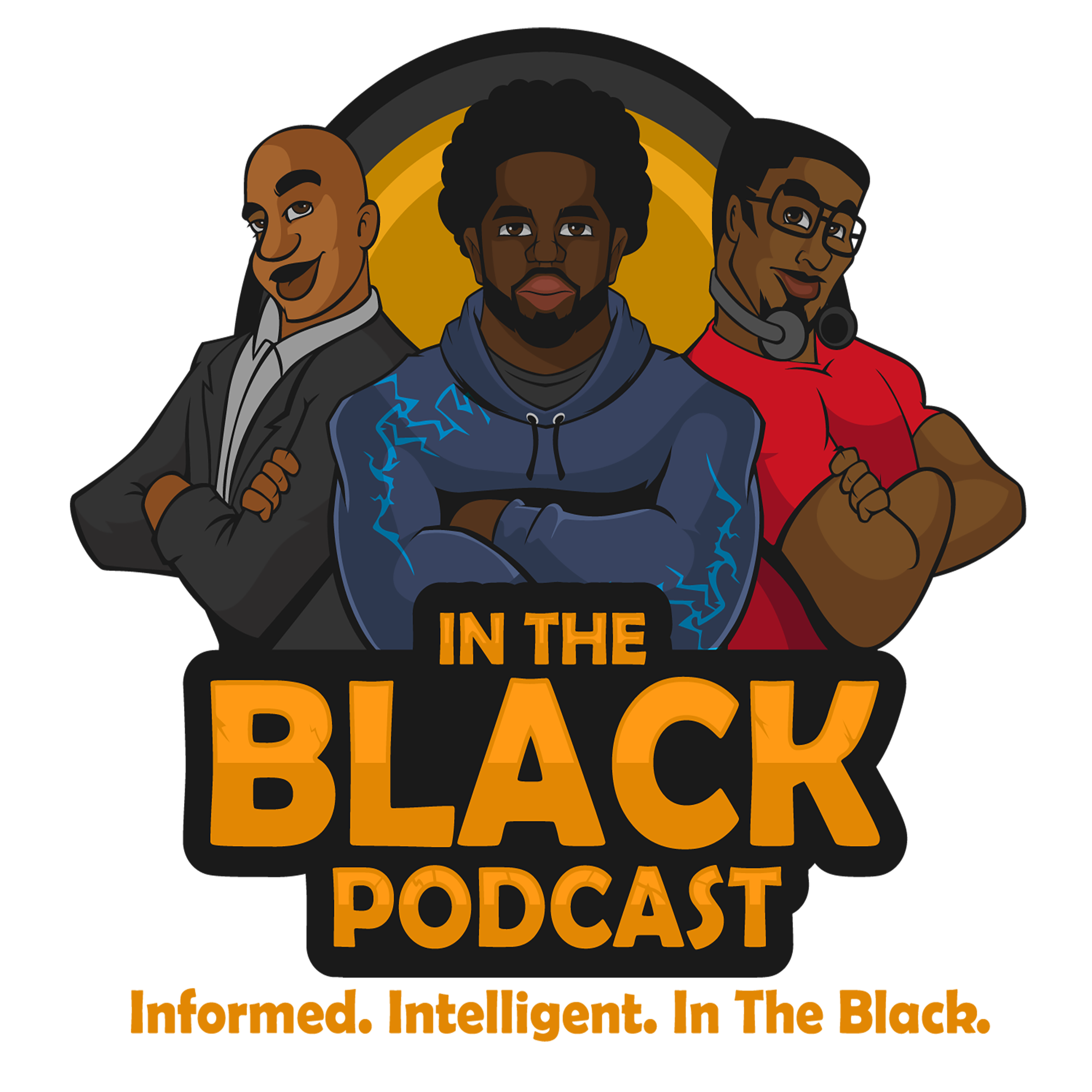 In The Black Podcast show art