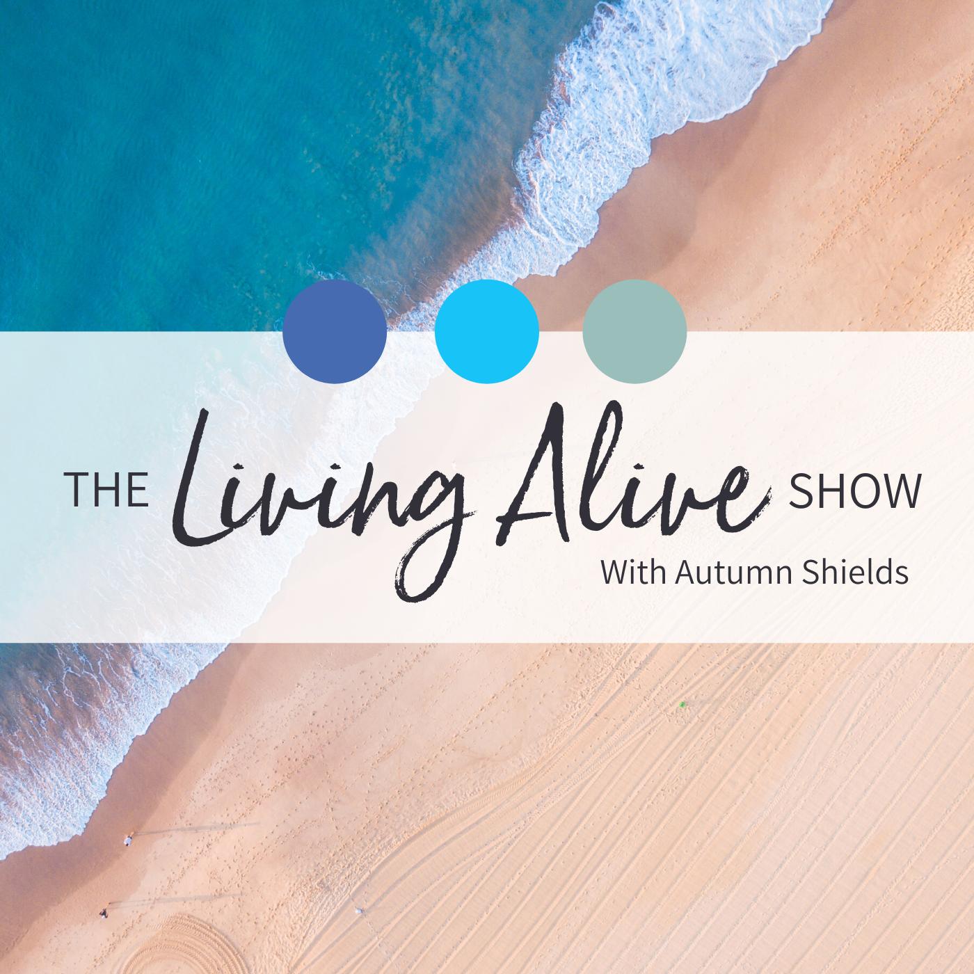 The Living Alive Show show art