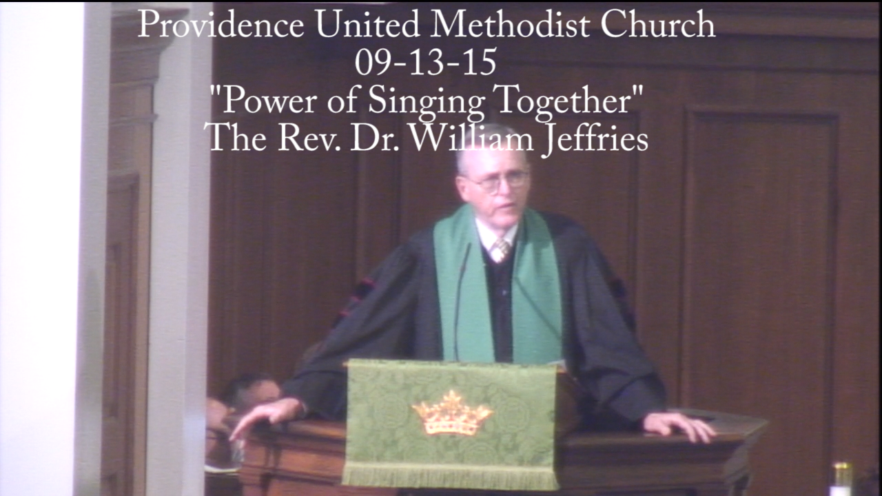 "Traditional Sermon ""Power of Singing Together"""