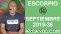Artwork for HOROSCOPO ESCORPIO - Semana 2019-36 Del 1 al 7 de septiembre de 2019 - ARCANOS.COM...