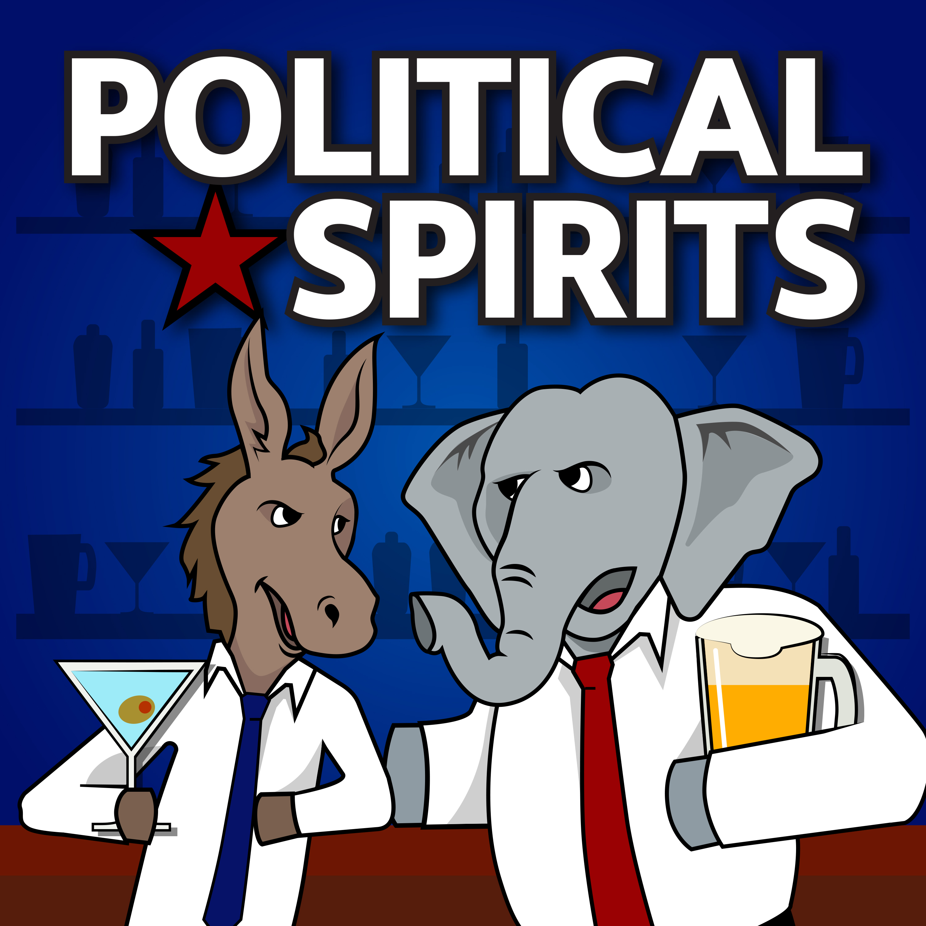 Political Spirits podcast show art