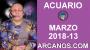 Artwork for ACUARIO MARZO 2018-13-25 al 31 Mar 2018-Amor Solteros Parejas Dinero Trabajo-ARCANOS.COM