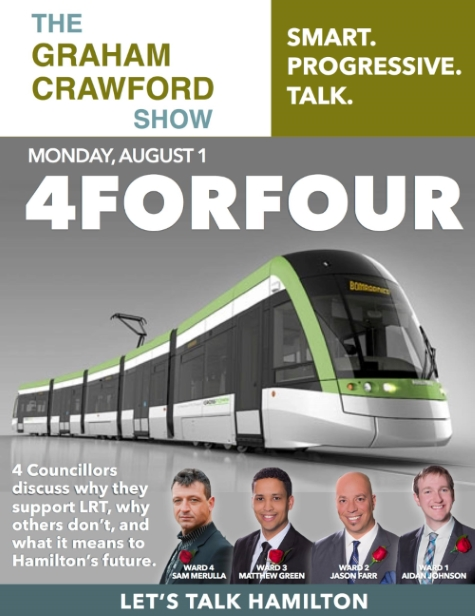 Four Hamilton City Councillors discuss LRT