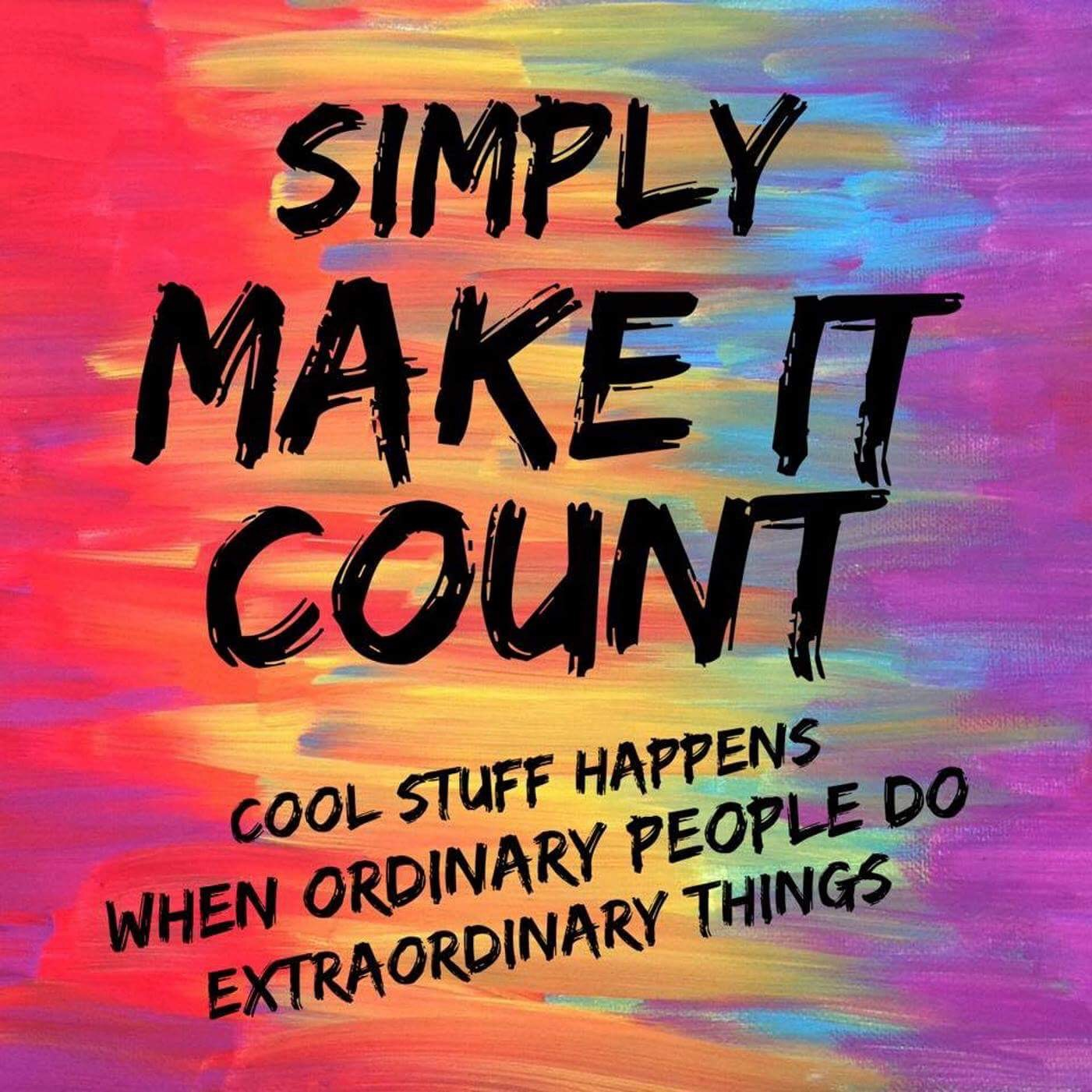 Simply Make It Count show art