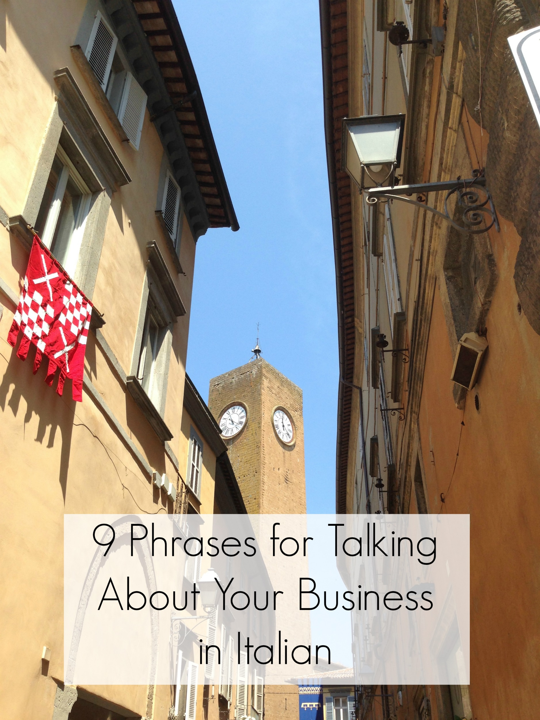 9 Phrases for Talking About Your Business in Italian