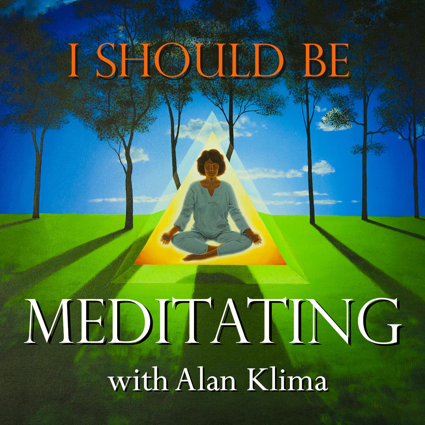 I Should Be Meditating with Alan Klima - Daily Meditation Practice, Questions Answered, and Reflections on Ekhart Tolle, Jack Kornfield, Jon Kabat-Zinn, Mooji, and other teachings from Meditation, Buddhism, Yoga, and Advaita logo