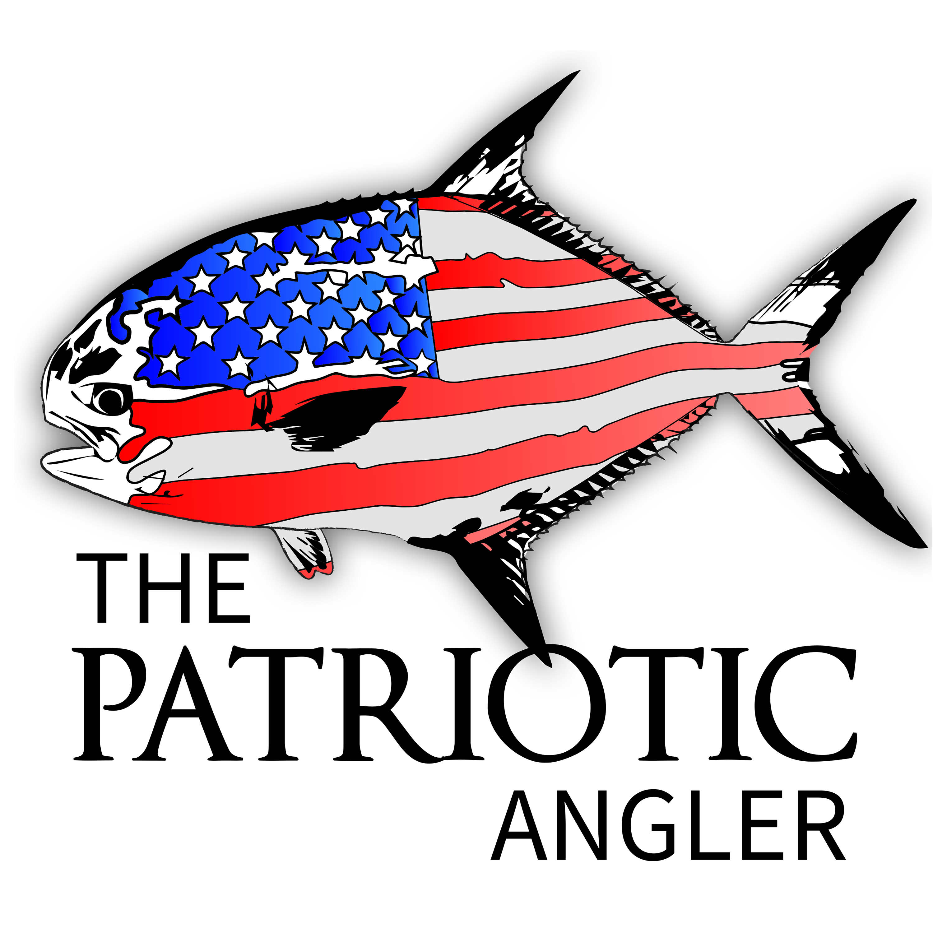 Patriotic Angler Fishing Podcast show art