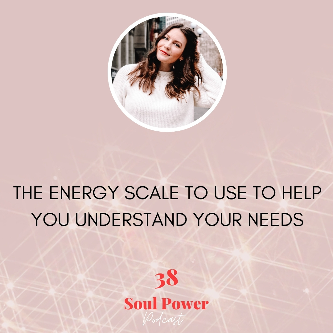 38: The Energy Scale to Use to Help You Understand Your Needs