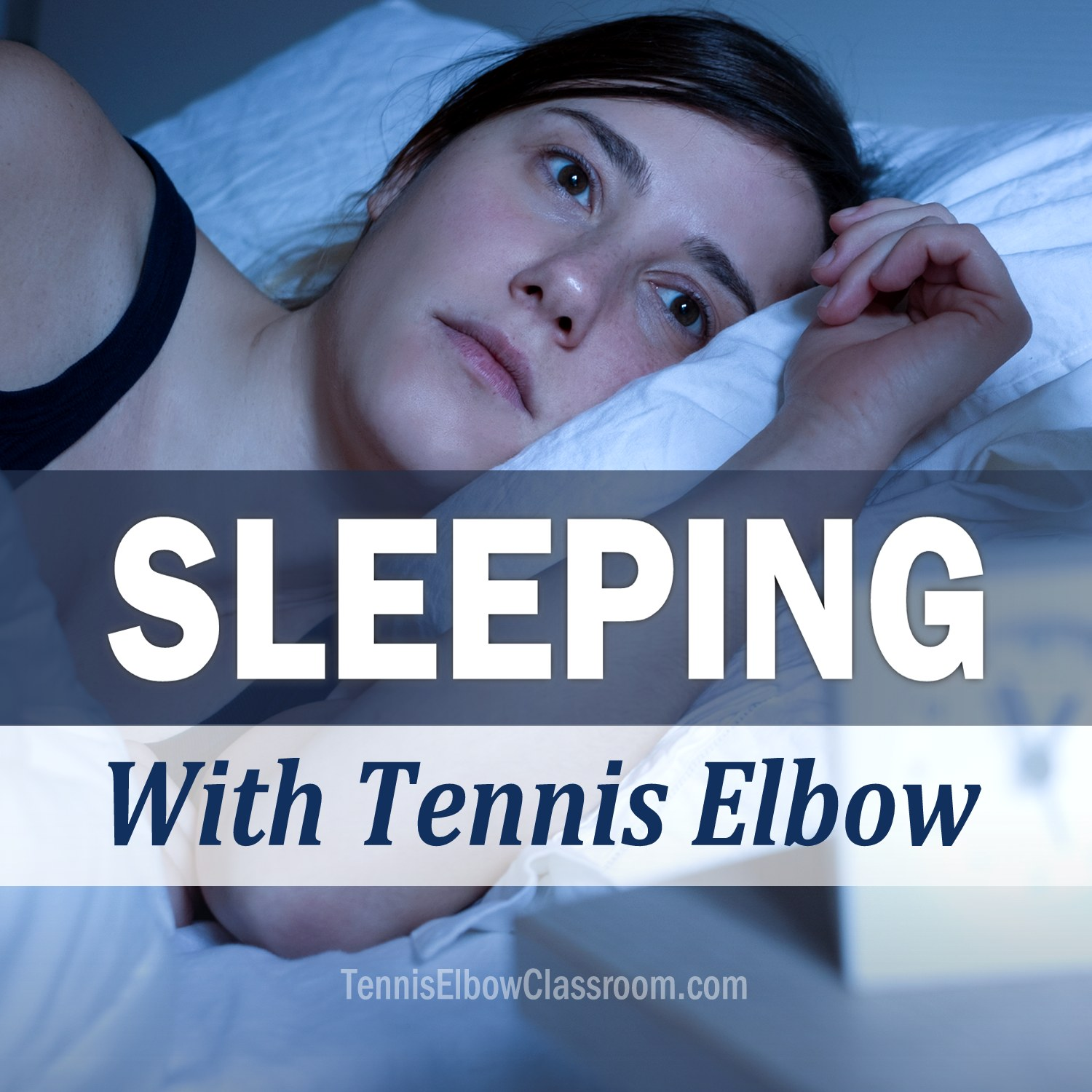 Sleeping With Tennis Elbow Podcast Cover Art