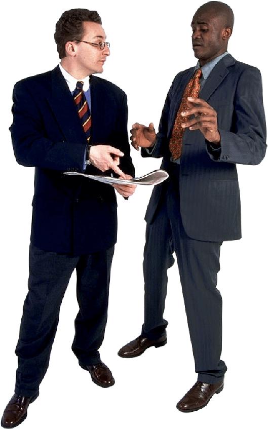 Business men talking