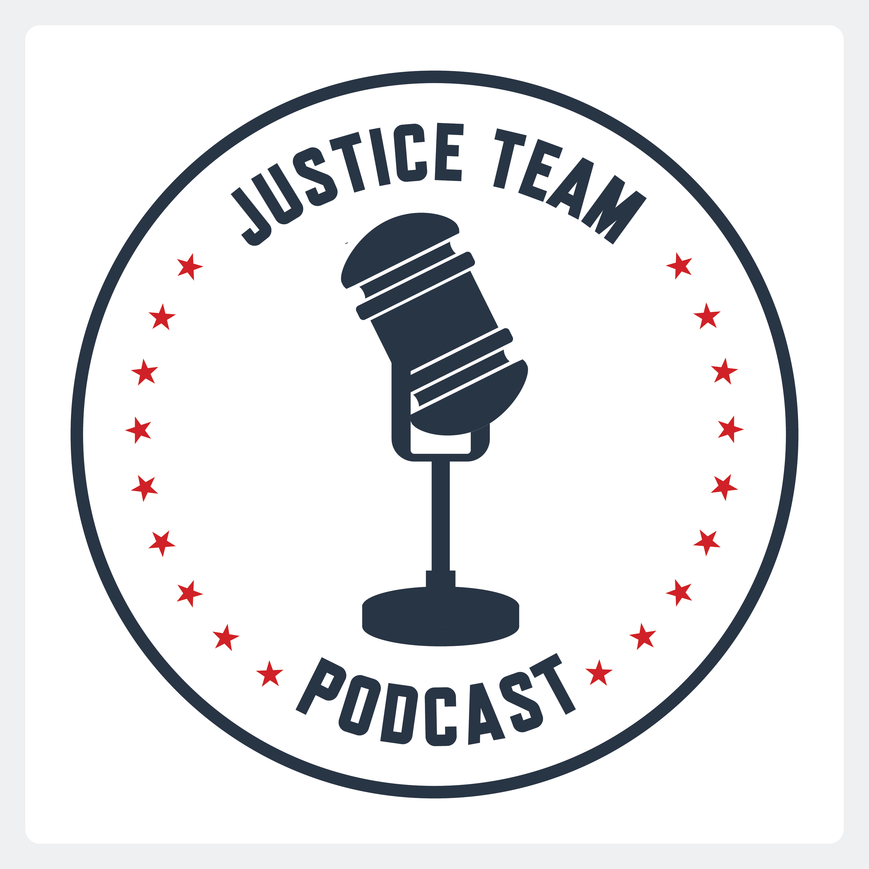 Justice Team Podcast show art