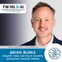 Artwork for DeepQB: Deep Learning to Quantify Quarterback Decision-Making with Brian Burke - TWIML Talk #297