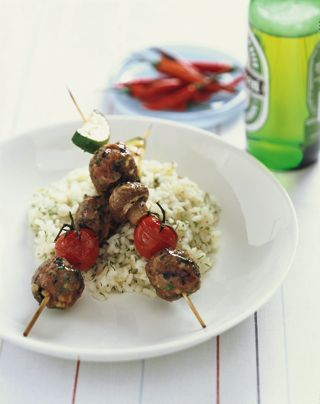 Recipe of the Week: Lamb Meatball Kebabs with Mint Jelly Glaze