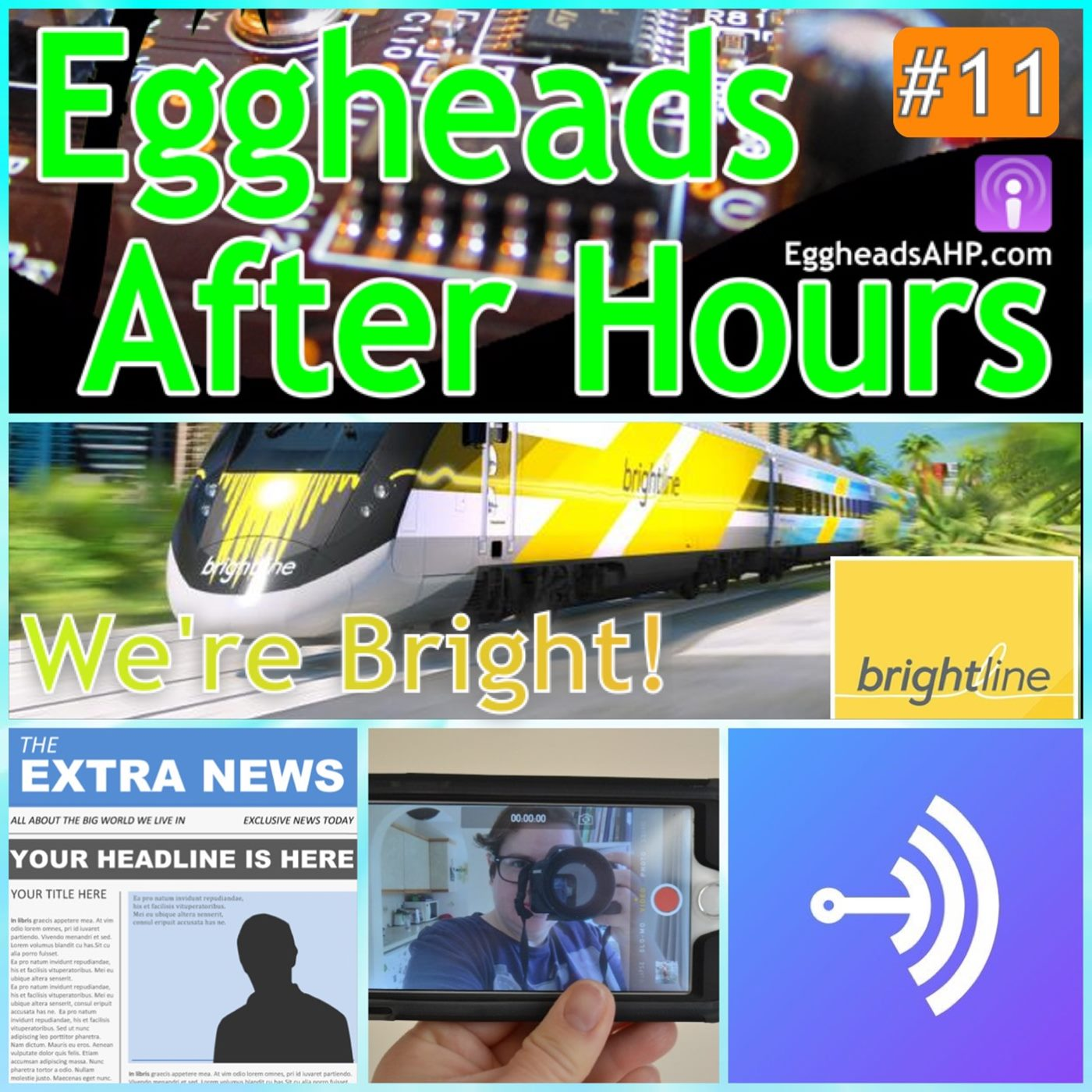 The Eggheads discuss the Brightline high speed train, newspaper tech, video, and the Anchor App