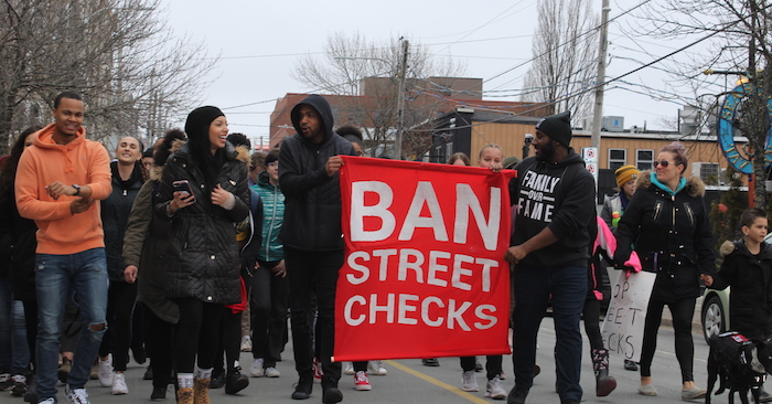 A youth-led conversation about street checks and their effect on the Black community show art