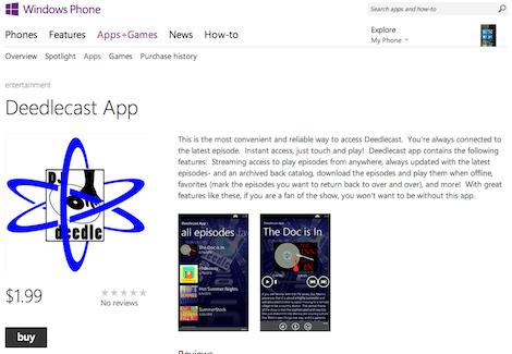 Deedlecast Windows Phone App