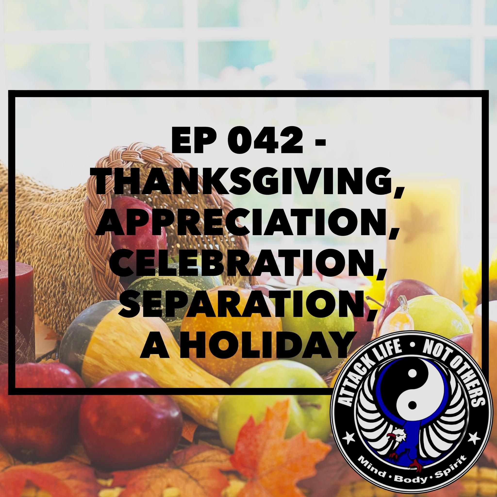 Artwork for Ep 042 - Thanksgiving - Appreciation, Celebration, Separation - A Holiday