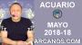 Artwork for ACUARIO MAYO 2018-18-29 Abr al 5 May 2018-Amor Solteros Parejas Dinero Trabajo-ARCANOS.COM
