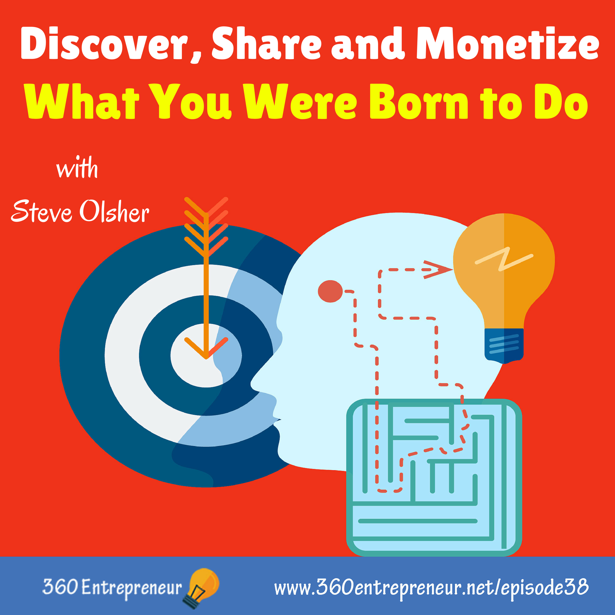 Artwork for TSE 038: Discover, Share and Monetize What You Were Born to Do w/ Steve Olsher