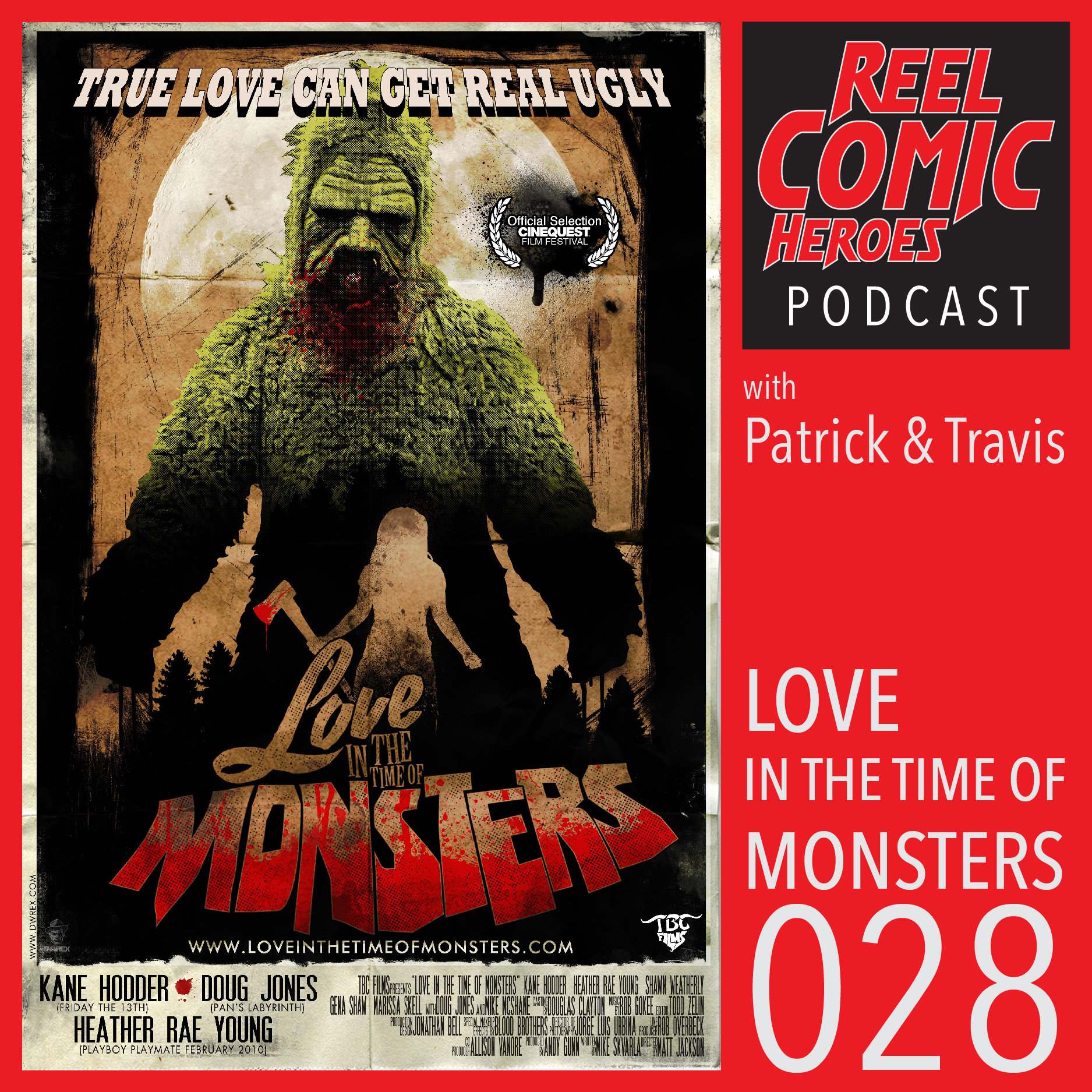 Artwork for Reel Comic Heroes 028 - SPECIAL - Love in the Time of Monsters