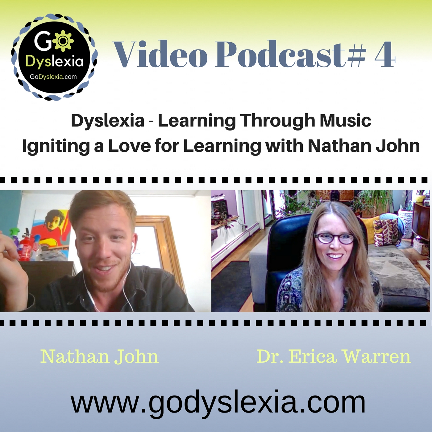 Go Dyslexia Episode 4: Dyslexia and Learning Through Music: A Podcast with Nathan John