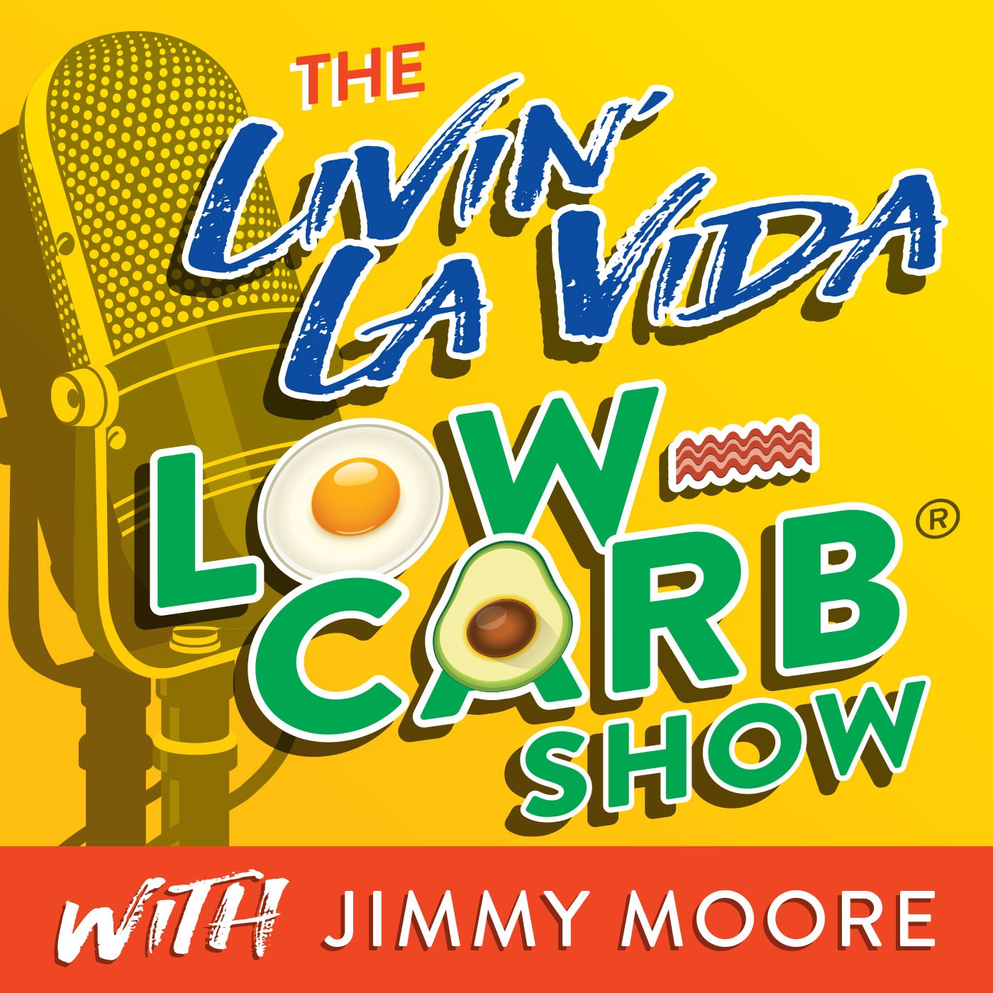 The Livin' La Vida Low-Carb Show With Jimmy Moore show art