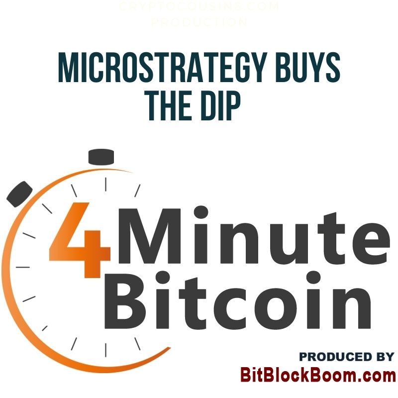 MicroStrategy Buys The Dip