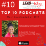 Artwork for 10th Most Downloaded Program of 2019 - Advocating for Student Voice with Principal Dr. Saneé Bell - Morton Ranch Junior High School - Katy, Texas