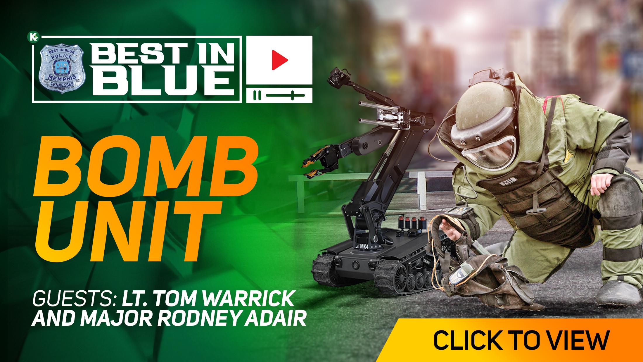 Artwork for BEST In BLUE TV - S2E3   Bomb Unit  w/ Major R. Adair and Lt. T. Warrick   KUDZUKIAN