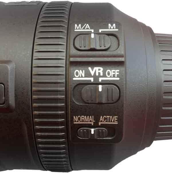 28-300 lens controls