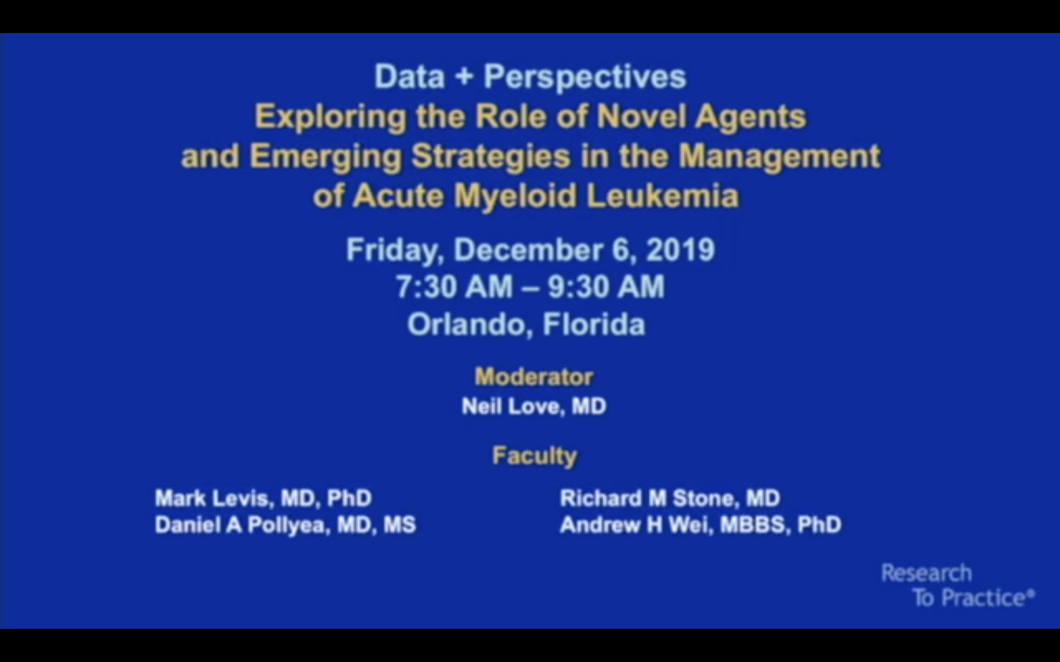 Artwork for AML | Data + Perspectives: Exploring the Role of Novel Agents and Emerging Strategies in the Management of Acute Myeloid Leukemia