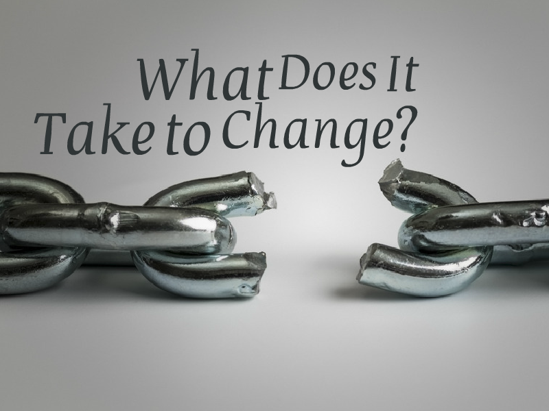 """What Does it Take to Change?"" with Kerry Patterson"