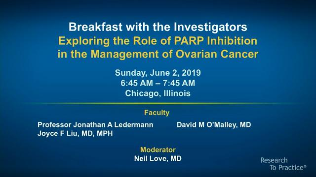 Artwork for Ovarian Cancer   Breakfast with the Investigators: Exploring the Role of PARP Inhibition in the Management of Ovarian Cancer