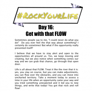 DAY 16 #RockYourLife!
