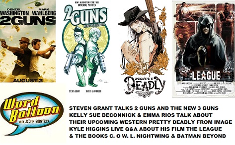 Word Balloon Podcast Steven Grant On 2 GUNS Kelly Sue DeConnick & Emma Rios Talk PRETTY DEADLY and Kyle Higgins on THE LEAGUE & C.O.W.L.