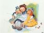 Artwork for Raggedy Ann and the Painter by Johnny Gruelle