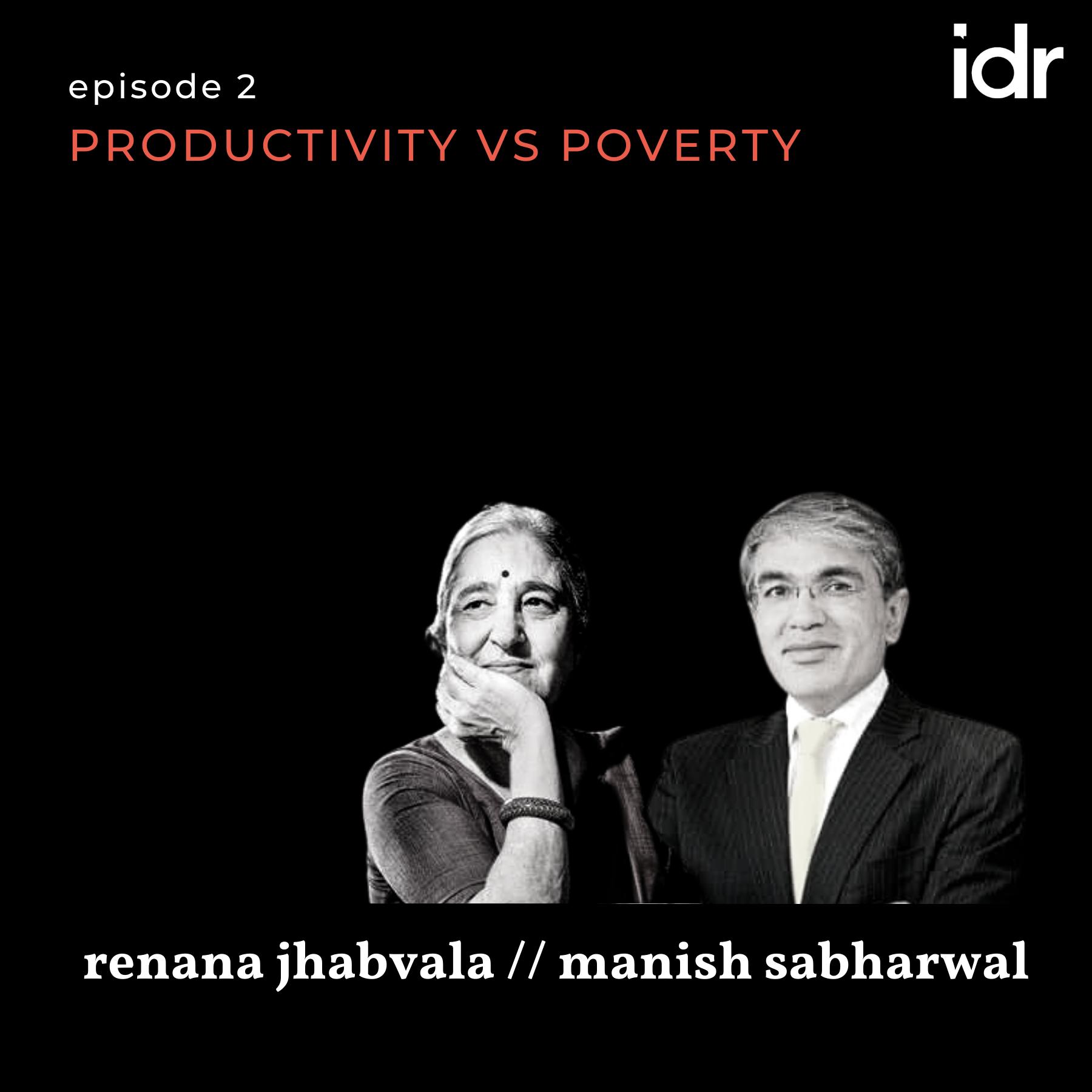 Productivity vs poverty