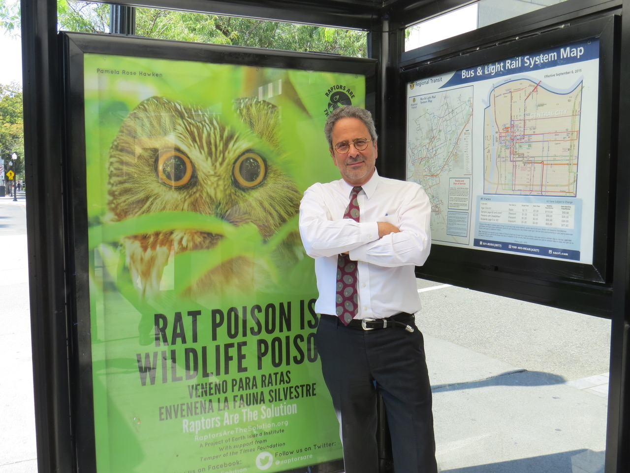 Assemblyman Richard Bloom next RATS bus poster
