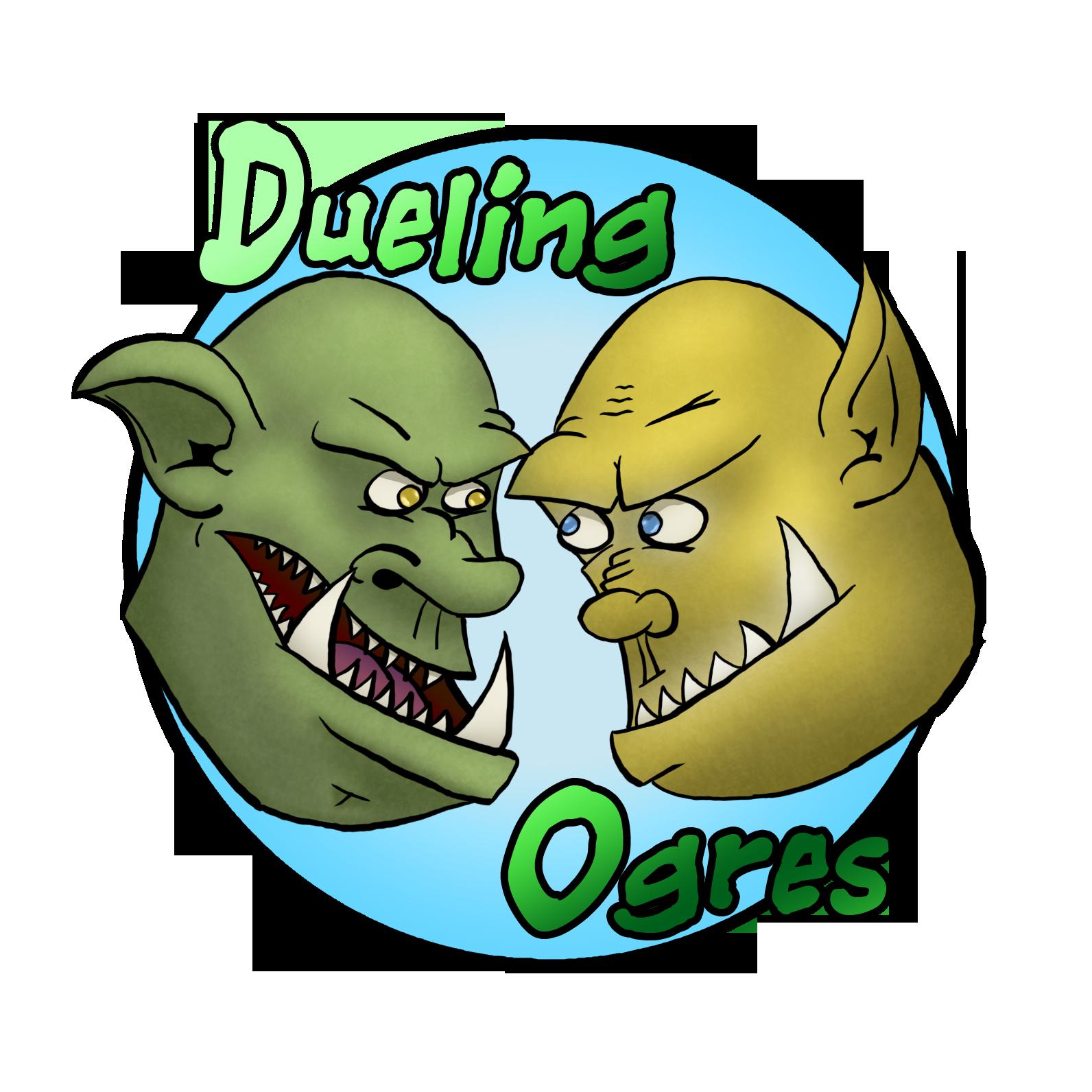 Dueling Ogres show art